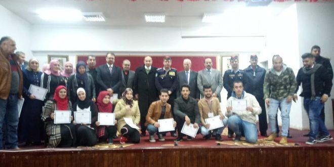 تخريج دورة لأصدقاء الشرطة في جامعة جرش